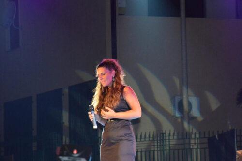 Meissa durante un'esibizione alla Iv edizione del faro