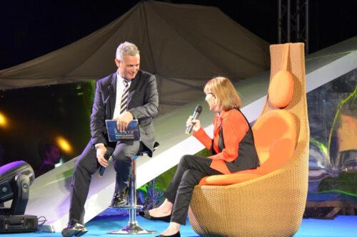 Piero Muscari e Rossana Luttazzi in ricordo di Lelio Luttazzi al faro 2012